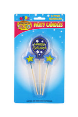 Birthday Balloon Pick Candles - Blue