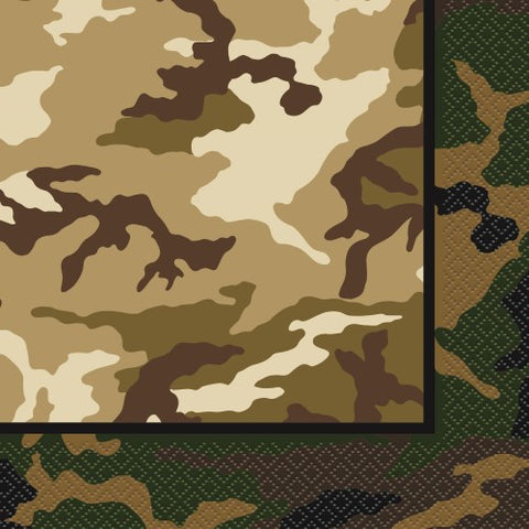 Camo Luncheon Napkins - 2 ply (16 pack)