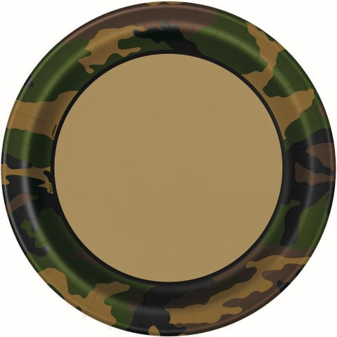 Camo Paper Dinner Plates (8 pack)