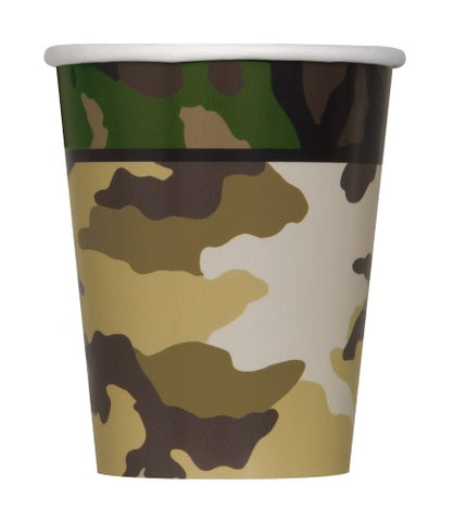 Camo Paper Cups 270ml (8 pack)
