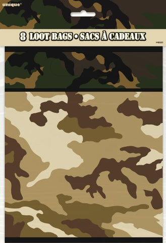 Camo Loot Bags (8 pack)