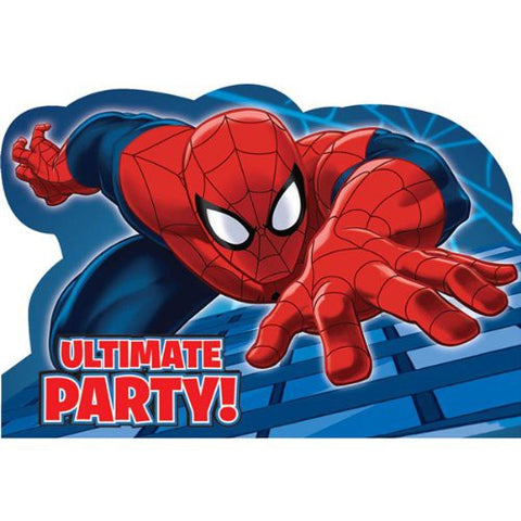 Spider Man Party Invitations (8 pack)