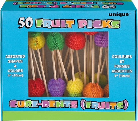 Luau Party Tropical Fruit Picks (50 pack)