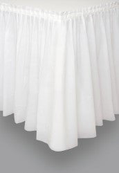 White Plastic Table Skirt - 426cm
