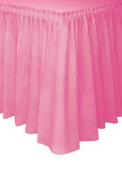 Hot Pink Plastic Table Skirt (426cm)