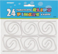 Clear Table Cover Clips (24 pack)
