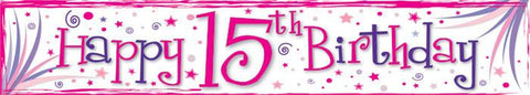 15th Birthday Banner