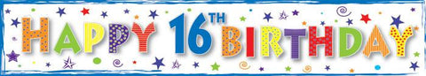 16th Birthday Banner - Boy