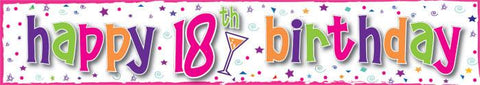 18th Birthday Banner - Girl