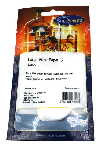Still Spirits Large Filter Paper. 5 pack