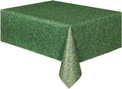 Green Grass Plastic Table Cover