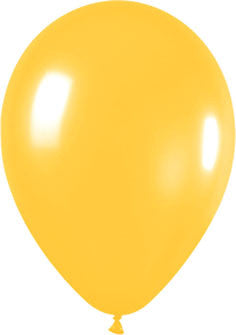 5 Inch Metallic (100 pack) - Yellow