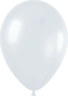 Metallic Pearl Satin White Balloons (25 pack)