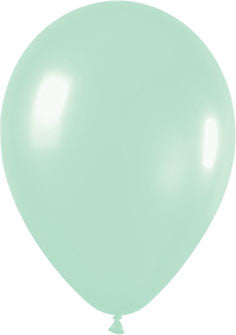 Metallic Pearl Green Balloons (25 pack)