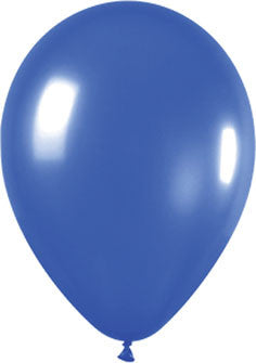 Metallic Pearl Sapphire Blue Balloons (25 pack)