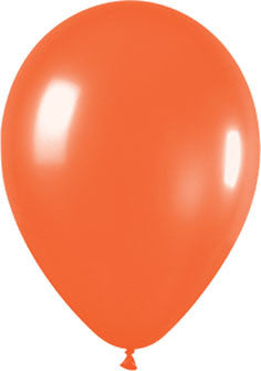 Metallic Pearl Orange Balloons (100 pack)