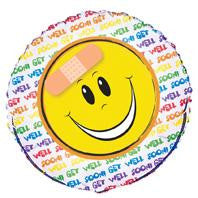 Get Well Smile Foil Balloon - 46cm
