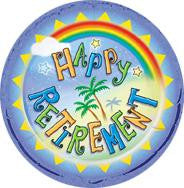 Happy Retirement foil Balloon - 46cm