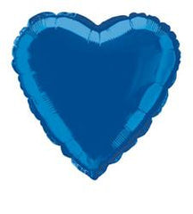 Blue Heart Foil Balloon - 46cm
