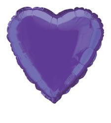Purple Heart Foil Balloon - 46cm