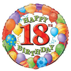 18th Birthday Balloons Foil Balloon - 46cm