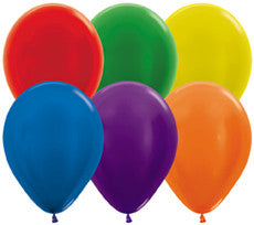 Metallic Assorted Colours Balloons (100 pack)