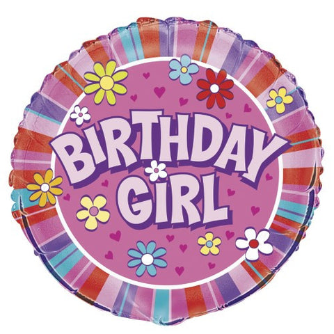 Birthday Girl Foil Balloon - 46cm