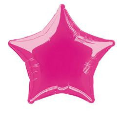 Hot Pink Star Foil Balloon - 50cm
