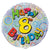 8th Birthday Prismatic Foil Balloon - 45cm