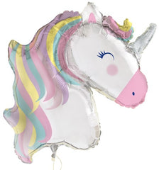 Unicorn Party Shape Jumbo Foil Balloon - 106cm