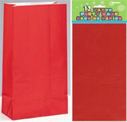 Red Paper Loot Bags (12 pack)