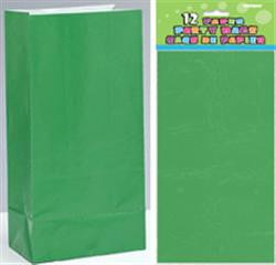 Emerald Green Paper Loot Bags (12 pack)