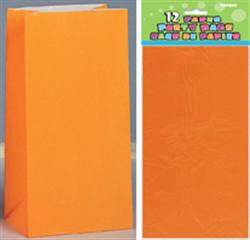 Orange Paper Loot Bags (12 pack)