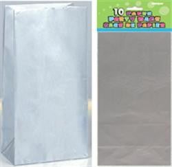 Silver Paper Loot Bags (10 pack)