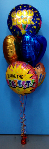 5 Foil Balloon Arrangement - Stacked