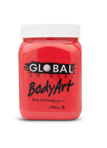 Body Art Face Paint - Brilliant Red - 200ml