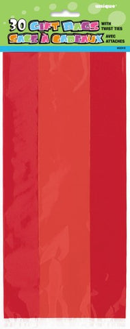 Red Cellophane Loot Bags (30 pack)