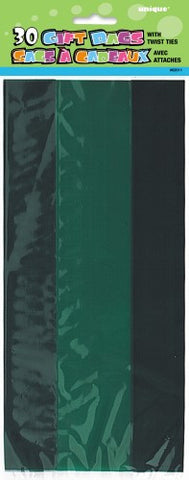 Emerald Green Cellophane Loot Bags (30 pack)