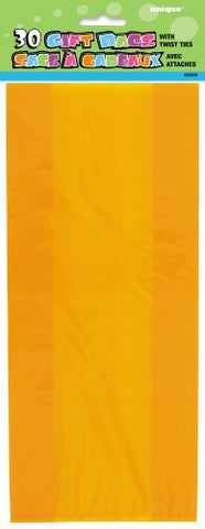 Orange Cellophane Loot Bags (30 pack)