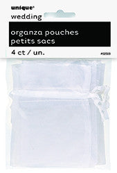 White Organza Pouches (4 pack)