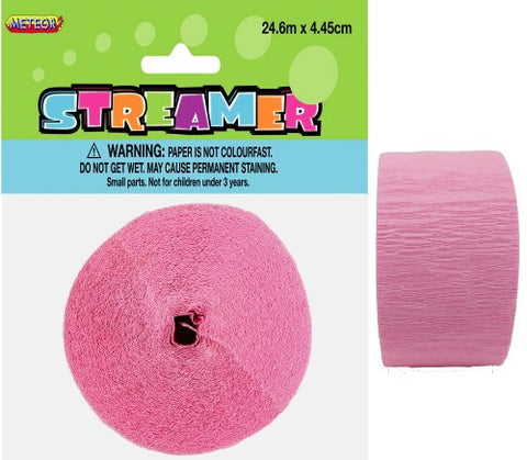 Crepe Streamers (24.6m) - Lovely Pink