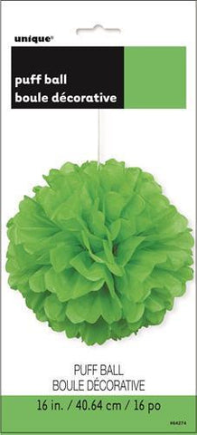Lime Green Puff Ball (40 cm)