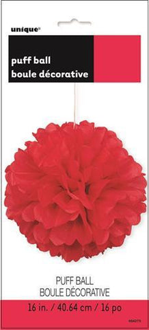 Red Puff Ball (40cm)
