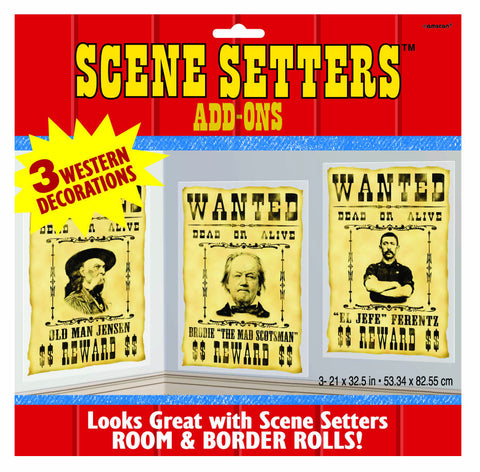 Wanted Posters Scene Setter Add-Ons