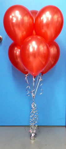 6 Metallic Balloon Arrangement - Stacked
