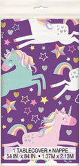 Unicorn Party Plastic Table Cover