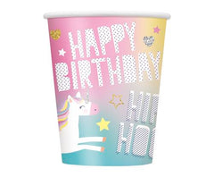 Unicorn Party Paper Cups (8 pack)