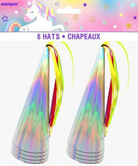 Unicorn Party Paper Hats (8 pack)