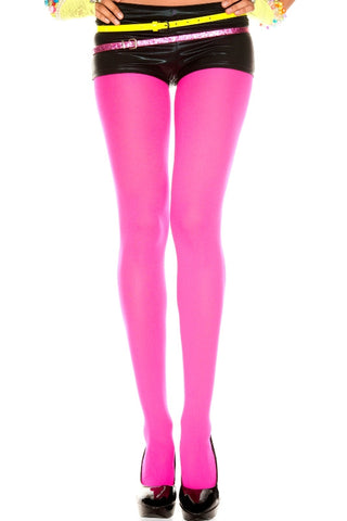Opaque Tights - Hot Pink