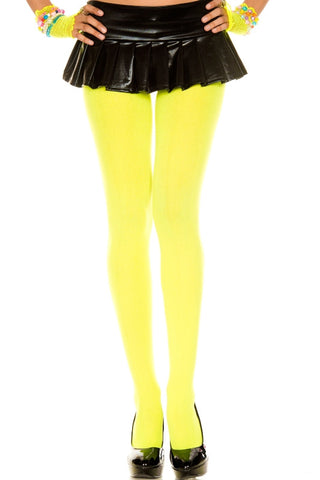 Opaque Tights - Neon Yellow